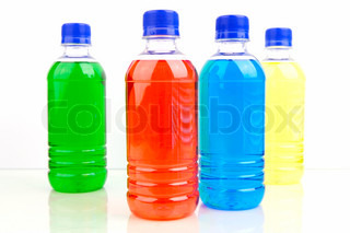 Sports energy drinks isolated against a white background