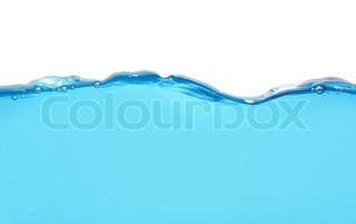 Water wave isolated over white