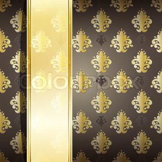 vector seamless damask wallpaper with place for your text, eps 10