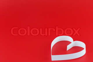 heart, on red background