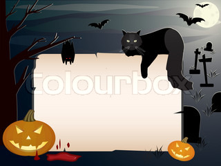 Halloween background with copy space