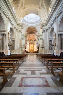 interior of Palermo Cathedral, Sicily, Italy