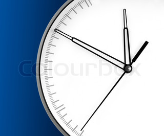 Wall Clock, isolated on blue background