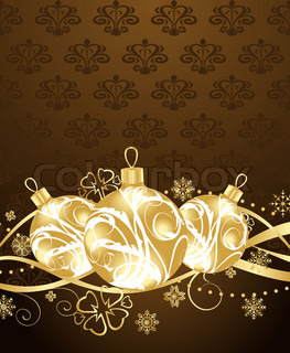 Illustration beautiful Christmas background - vector