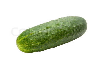 single cucumber isolated on a white background