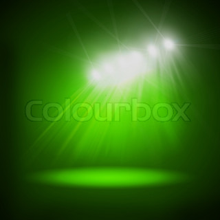 Abstract image of concert lighting against a dark background