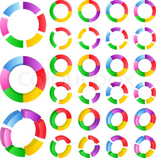 Set of vector abstract circles on white background