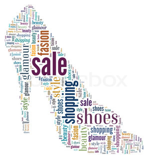 Image of 'typography, shoes, shopping'