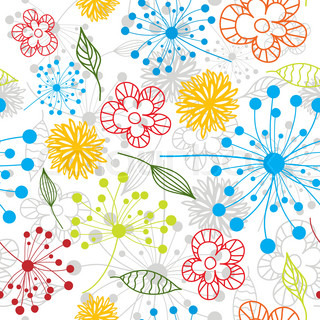 Seamless floral pattern, vector illustration