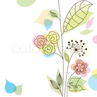 Àbstract floral background, vector illustration