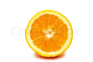 Half-cut orange isolated on