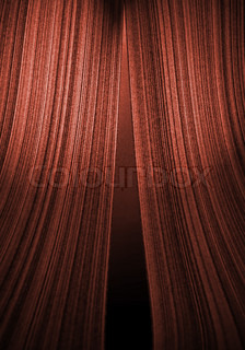 curtain in theatre with grey background