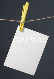 white photo paper on gray background