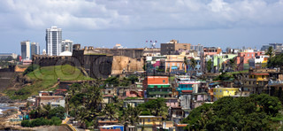 The La Perla neighborhood located in Old San Juan Puerto Rico which is widely known for a high crime rate and drug activity