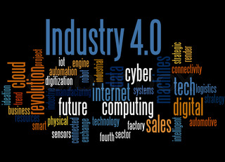 Industry 4.0, word cloud concept