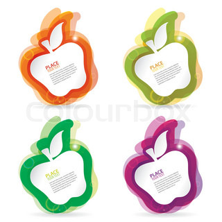 Abstract apple colorful template, element for design, eps10 vector illustration