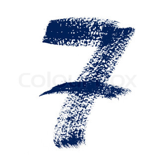 7 - Colorful numbers isolated over the white background