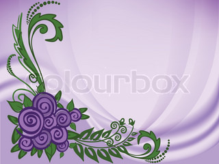 Roses on purple background