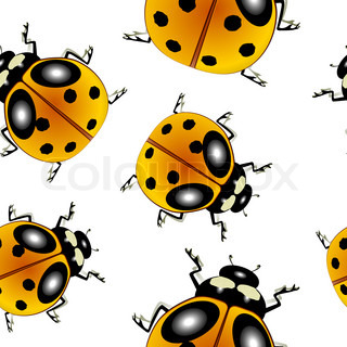 ladybugs pattern, abstract seamless texture art illustration