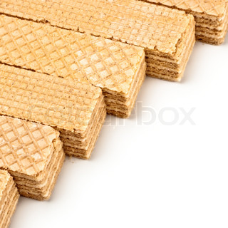 crisp waffles line isolated on white background