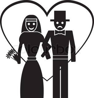 groom and bride. vector illustration
