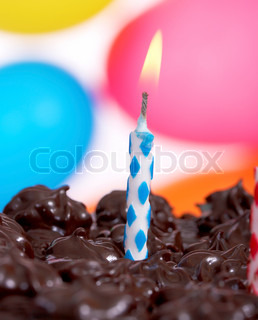 Birthday Cake And Balloons For A One Year Old Child