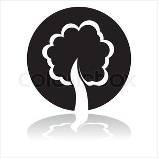 sort træ skilt