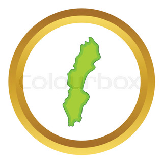 Highly Detailed Vector Map Of Sweden With Administrative Regions - Sweden map clipart