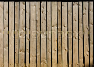 Fence of old weathered wood