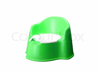 green potty isolated on a white background