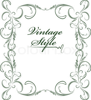 Vector of 'vintage, element, floral'