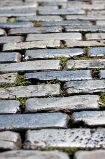 The famous cobblestone lined streets of historic Old San Juan Puerto Rico