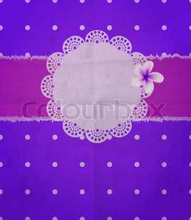 scrapbook-style retro background or greeting card