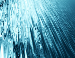 abstract blurred background with blue stream water