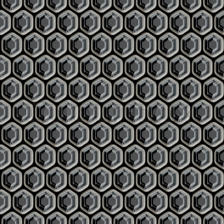 Honeycomb shaped metal grill that tiles seamlessly in any direction