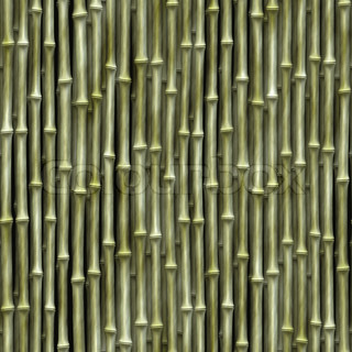 Seamless bamboo poles texture - tiles as a pattern in any direction