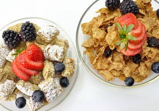cereal with fruits and berries