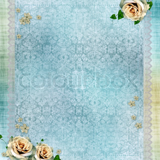 wedding background with lace and beige roses