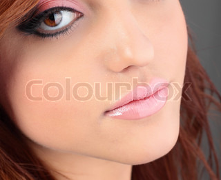 potrait of beautiful girl with professional make-up