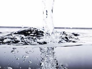 Isolated shot of water splashing
