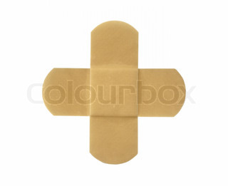 Adhesive plaster isolated on a white background