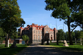 Den restaurerede slot på 18 århundreder