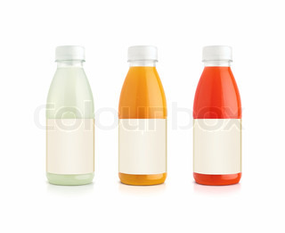 Orange og grapefrugt og Vanille juice flasker