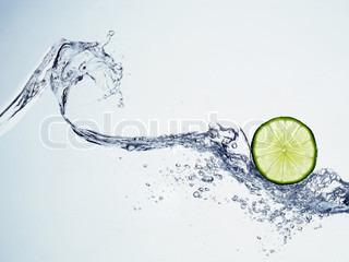 lime in spray of water can be used as background