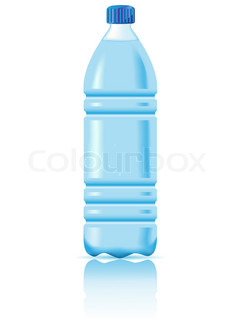 mineral water is in a plastic bottle vector illustration