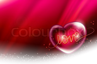 beautiful pink background with a romantic heart
