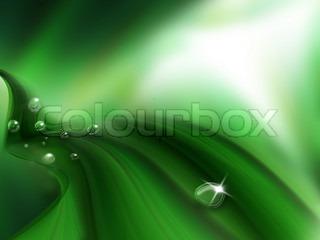 dråber dug på et grønt blad - natur baggrund