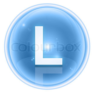 Letter L, isolated on white background