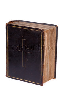Old bible, over 100 years old, taken on clean white background