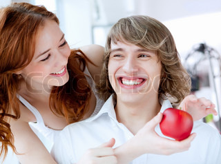 picture of a young couple in love together